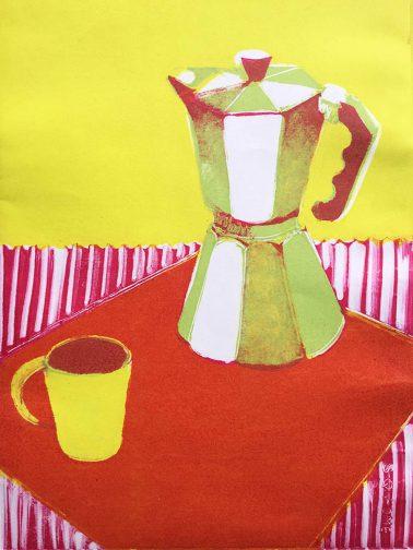 Coffee Pot and Mug
