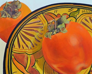 Persimmon with Morrocan Plate